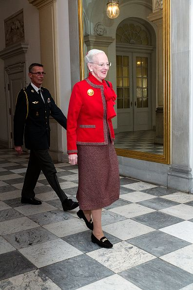 Queen Margrethe of Denmark arrives to host a reception for the Danish Olympic and Para-Olympic Teams at Christiansborg on October 14, 2016 in Copenhagen, Denmark.
