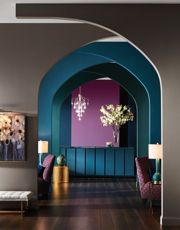 The Noir Palette from colormix 2017:  The Sherwin-Williams Color Forecast celebrates the beauty of the night hours.