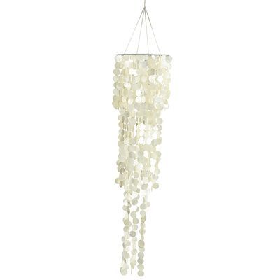 """Capiz Wind Chimes - Ivory 65"""" x 12"""" for each side of the bed *with a lightbulb kit in it*"""
