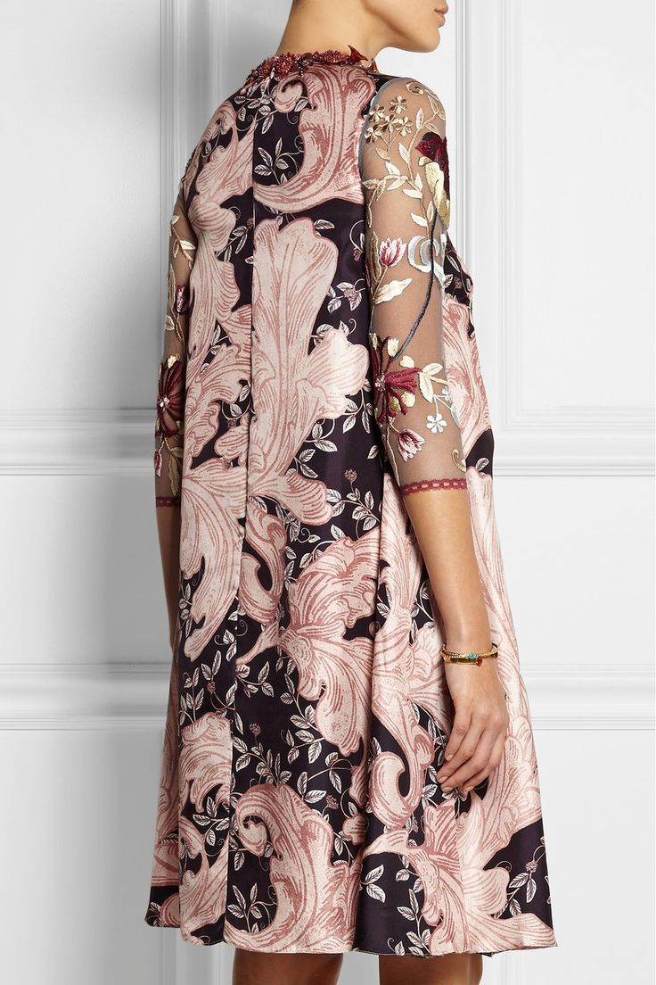 Biyan|Lotta embroidered tulle and silk dress|£1,295