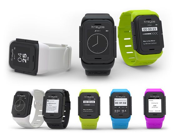 Kreyos: the all-in-one smartwatch with voice and gesture control (works with iPhone, Android and Windows Phone8)