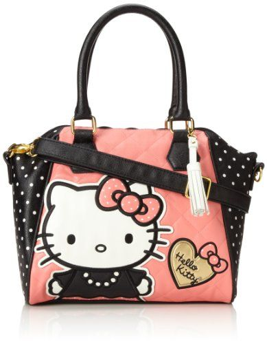 Hello Kitty Hello Kitty Quilted Pearls W/White Polka Dots Top Handle Bag,Multi,One Size