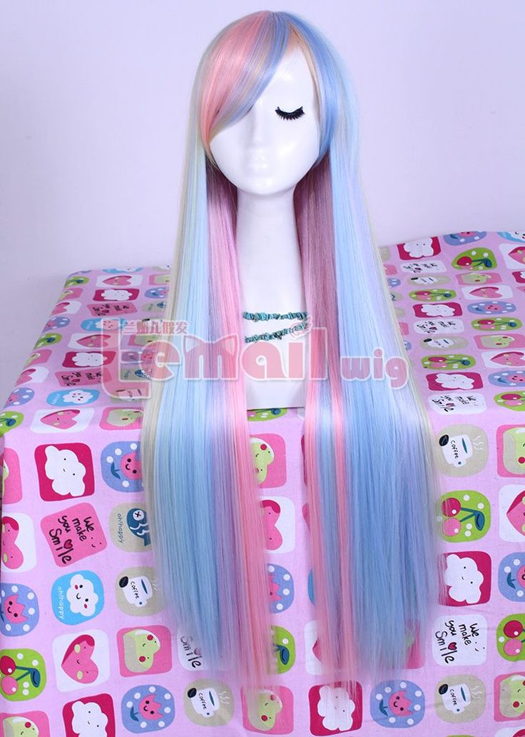 long zipper multi-color Straight Anime Cosplay hair wig CB55, all kinds of fashion cosplay wigs shop at http://costwe.com/long-cosplay-wigs-c-2_4.html