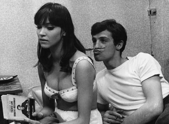 Anna Karina and Jean Paul Belmondo in une femme Est une Femme