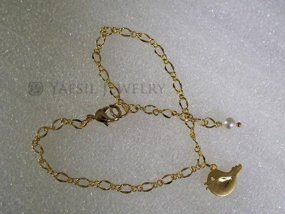 Bird Bracelet Cute Bird Bracelet: Dressy Bracelet by YaesilJewelry