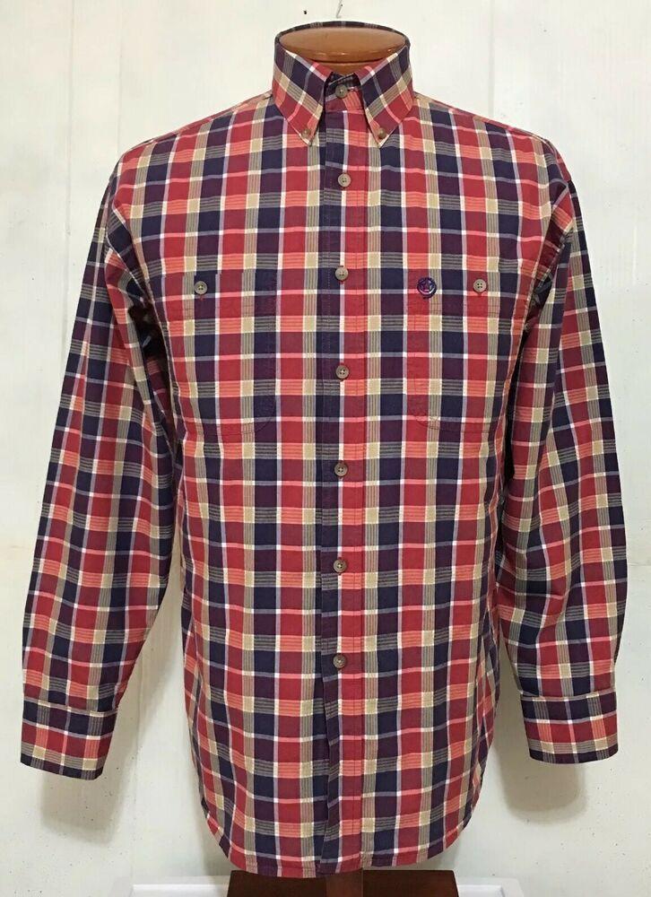 7db76182 Wrangler George Strait Cowboy Cut Collection BD/LS Western Plaid Shirt Sz  Med #fashion #clothing #shoes #accessories #mensclothing #shirts (ebay link)
