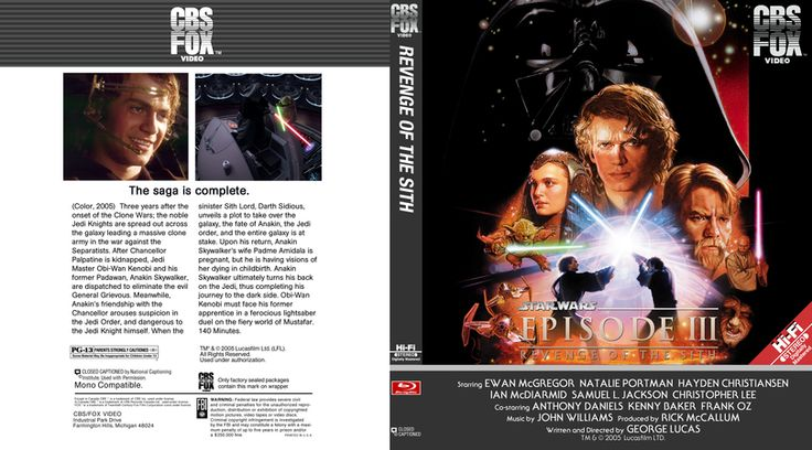 Star Wars Episode 3 Blu-ray Custom Cover