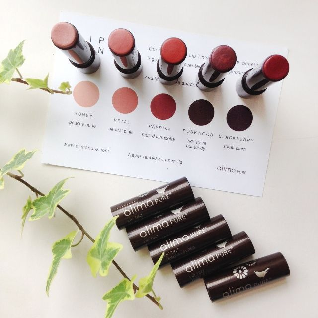 Alima Pure Lip Tints review - cruelty free and all natural