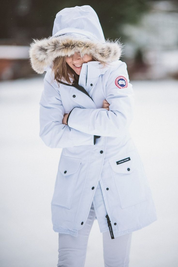 TOTAL WHITE IN CANADA GOOSE TRILLIUM PARKA - THECABLOOK by Darya ...