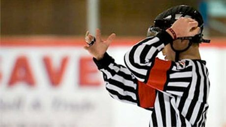 how to become hockey referee