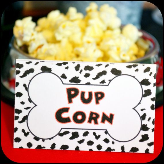 PRINTABLE Dalmatian Party Food Labels by KraftsbyKaleigh on Etsy, $3.00