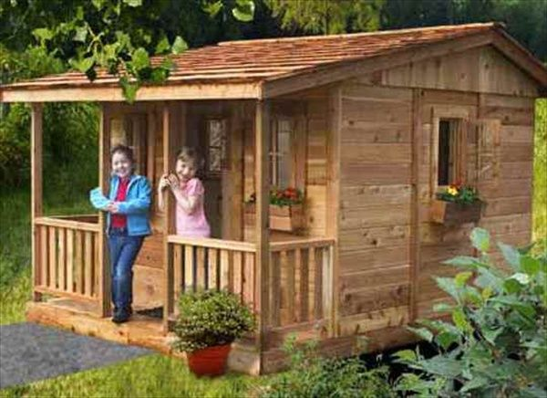playhouse designs | DIY Designs - Kids Pallet Playhouse Plans | Wooden Pallet Furniture