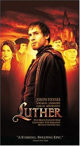 Lutero (2003. Joseph Fiennes, Bruno Ganz, Peter Ustinov, Alfred Molina) During the early 16th century, idealistic German monk Martin Luther, disgusted by the materialism in the church, begins the dialogue that will lead to the Protestant Reformation.