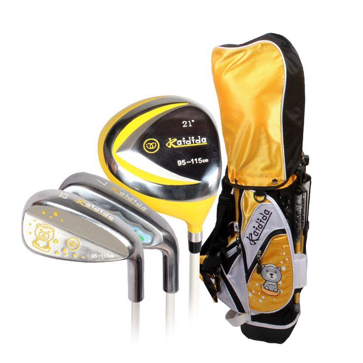 Kaidida Children's Golf Clubs Unisex Yellow 4 Pcs Kids Sets Fit For 95-115cm Boys Girls Golf Clubs Sets Honma Golf Putter Club  #Affiliate
