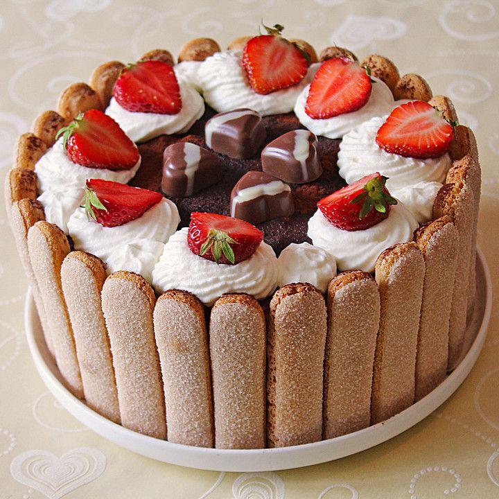 Erdbeer - Tiramisu - Torte