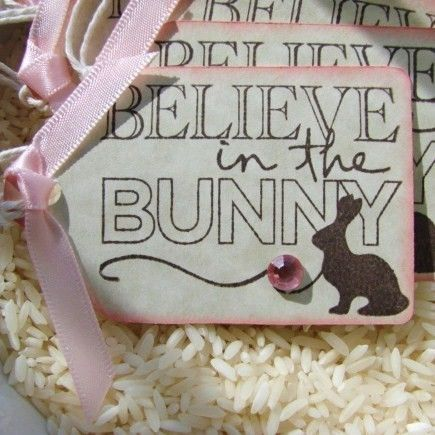 90 best easter quotes images on pinterest easter quotes easter believe in the bunny easter gift tags set of 6 by buncobettys negle Gallery