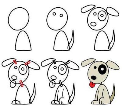 Dona de Casa Atualizada: Passo a passo para desenhar um cachorro