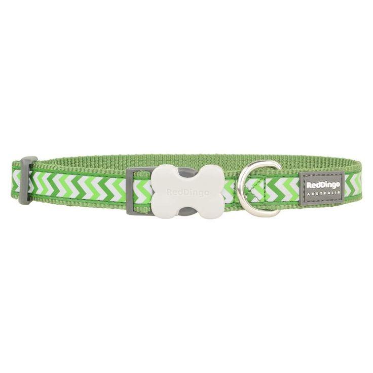 Red+Dingo+Reflective+Ziggy+Green+Medium+Dog+Collar