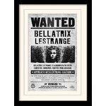 Gerahmte Wandkunst Harry Potter Bellatrix Wanted