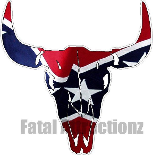 Rebel Flag Bull Skull | Fatal Attractionz