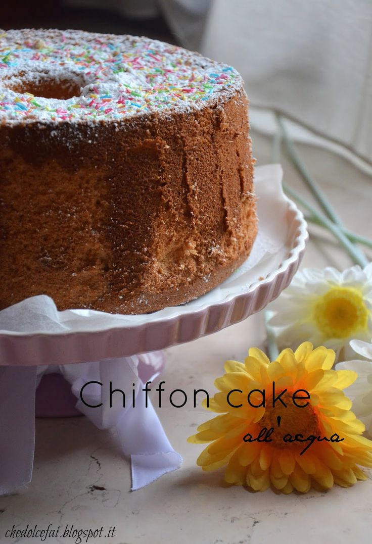 Che dolce fai?: CHIFFON CAKE ALL'ACQUA