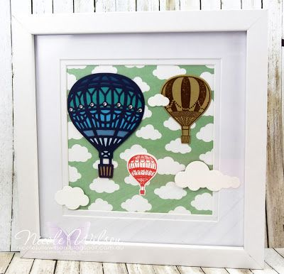 http://nicolejuliewilson.blogspot.com.au/ Saleabrate Occasions 2017 Lift me up Bundle and Carried away Designer Series Paper picture frame, Brisbane onstage live 2016, hot air balloons www.facebook.com/NicoleWilsonStamp #onstage2016 #stampinup #saleabration