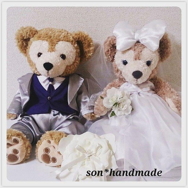 友達の結婚式のウェルカムドールに♡ #ダッフィー #シェリーメイ #ダッフィーコスチューム #シェリーメイコスチューム #ハンドメイド #ウェルカムドール…