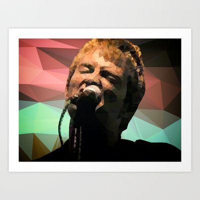 Thom Yorke | Radiohead | Creep (Polygonal) Art Print by Mirek Kodes