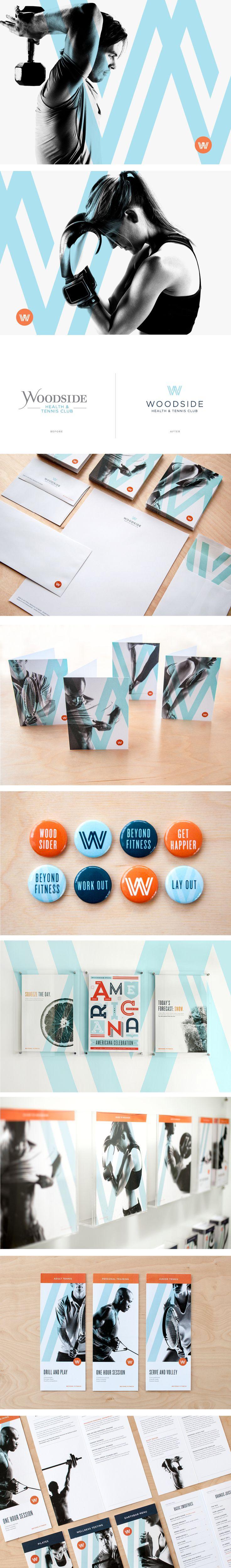 Woodside Health & Tennis Club | Art Direction Branding Copywriting Design Interior Integration Signage Wayfinding Website | Design Ranch