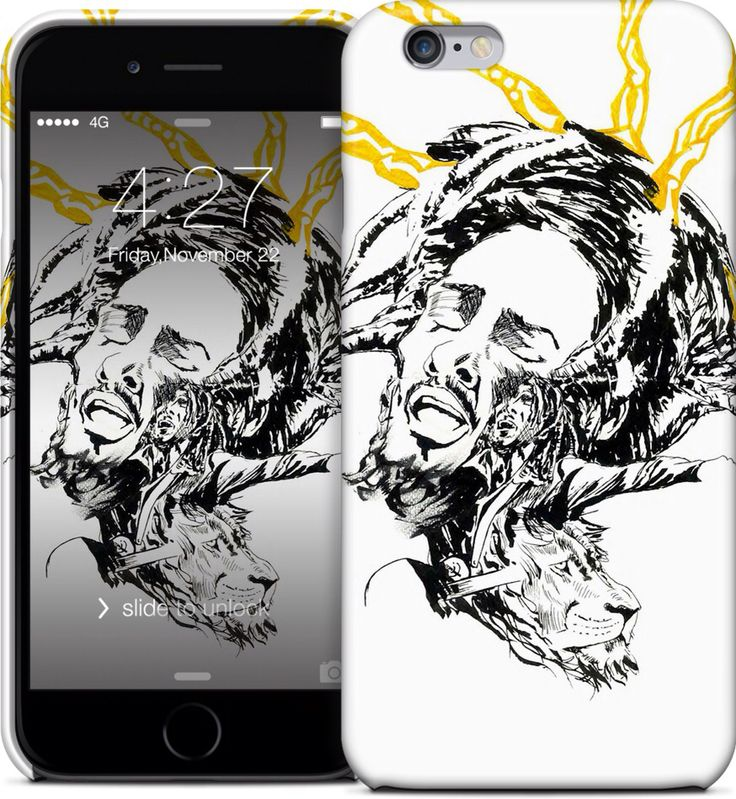 Bob marley iPhone and Samsung cases at nuvango.com