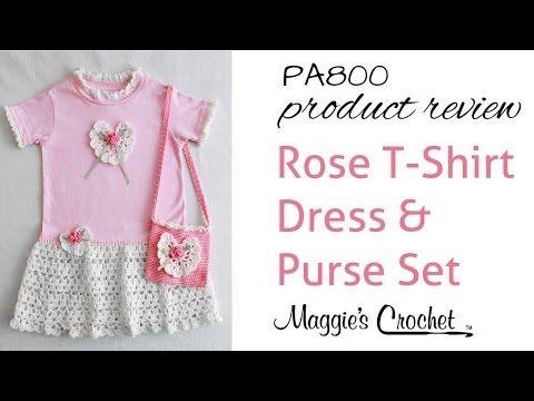 Rose T-Shirt Dress and Purse Crochet Pattern – Maggie's Crochet