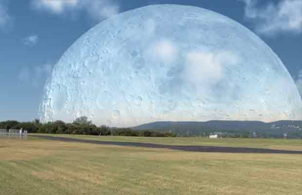 Si la Lune était à la même distance que l'ISS (Station spatiale internationale)