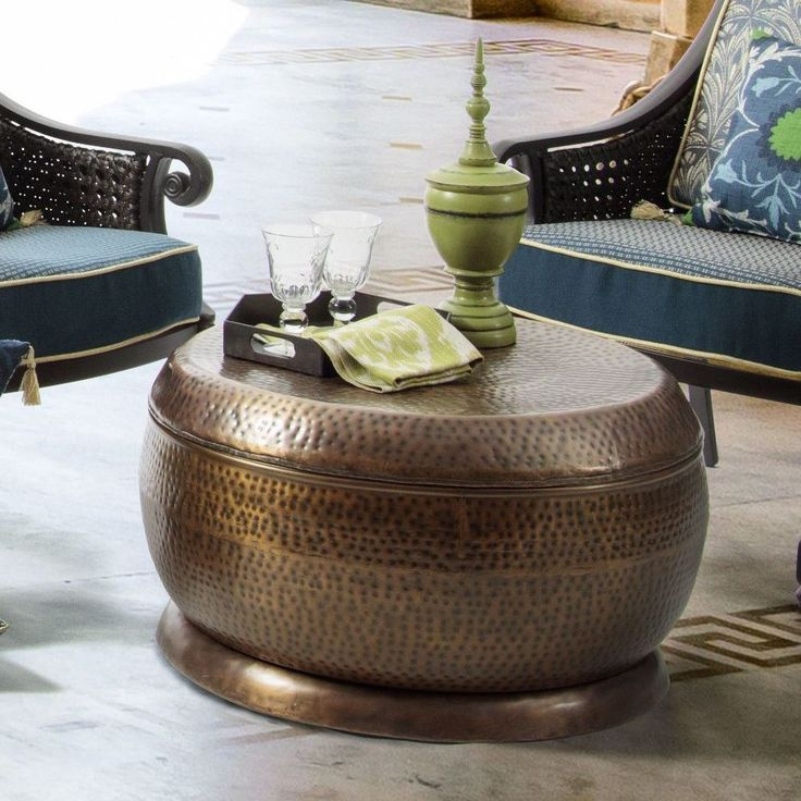 Antique Round Copper Coffee Table: 25+ Best Ideas About Drum Coffee Table On Pinterest