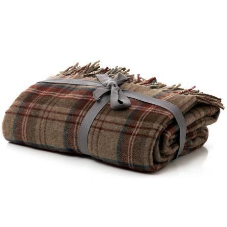 Checked Tweed Throw | Dunelm