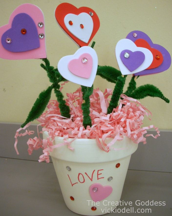Valentine's Day Kids Craft: Love BloomsVicki O'Dell... The Creative Goddess