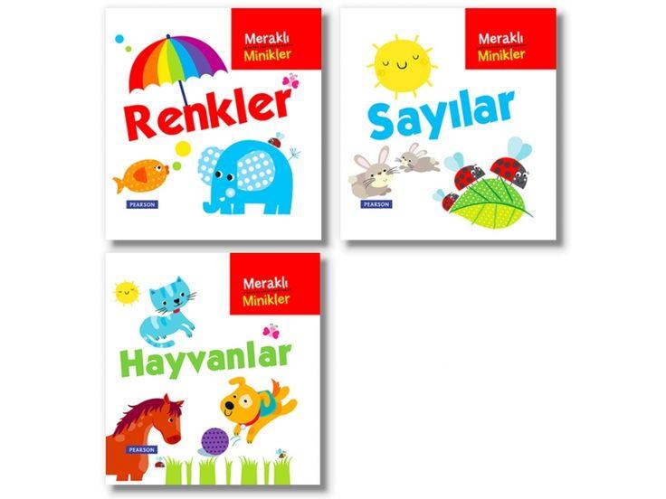 Meraklı Minikler - Renkler - PEARSON - Bebek Kitabı- Bebek Dokun Öğren, Gökkuşağı, Bebek Kitapları Afacan Kitap