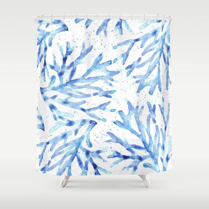 17 Best Ideas About Coral Shower Curtains On Pinterest Diy Bathroom Decor Small Bathroom