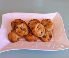 Cafe style choc chip cookies (Thermomix) - so quick and easy. Need to reduce the sugar by at least half.