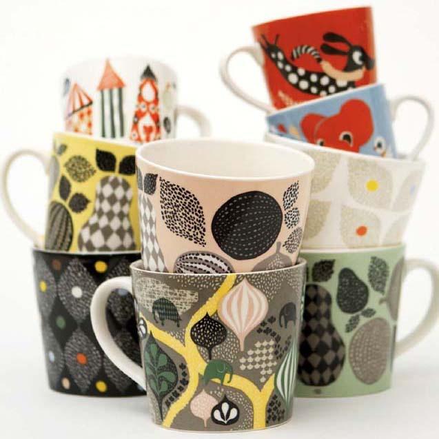 Mugs: Camilla Lundsten, Cups, Pattern, Dishes, Littleph, Ceramics, Products, Design Blog, Mugs