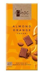 Ekologisk och vegansk chokladkaka med mandel och apelsin.