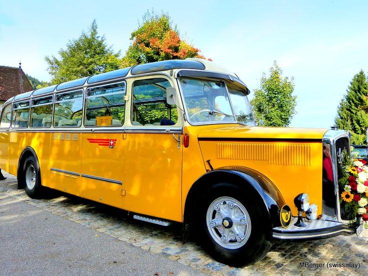 SAURER Arbon - Schweizer Postauto - Inbetriebnahme 1961 - legendary Swiss Post Bus