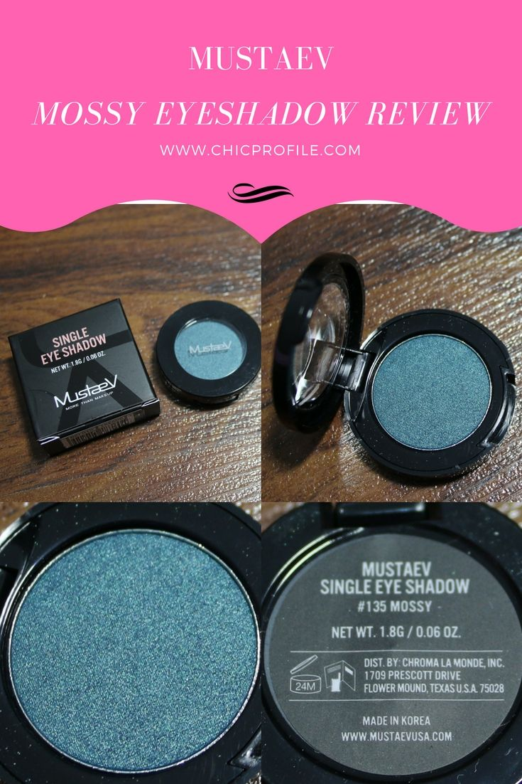 MustaeV Mossy Eyeshadow is a gorgeous deep blue-green with a pearl texture. CLICK THE PHOTO to check out the entire REVIEW! via @Chicprofile