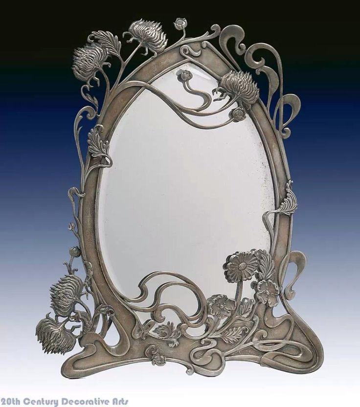 423 best art nouveau furniture images on pinterest for Miroir art nouveau