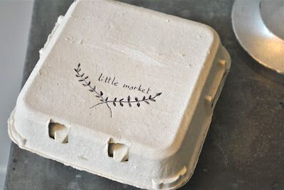 egg crate packaging with script