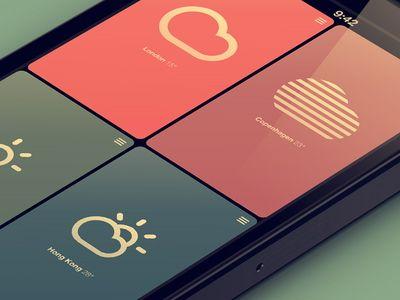23 Minimal and Attractive Weather App Designs - UI