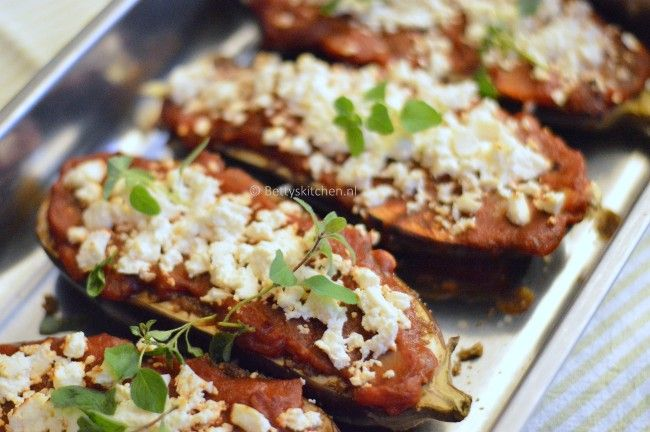 Recept: Aubergines met feta uit de oven - Betty's Kitchen