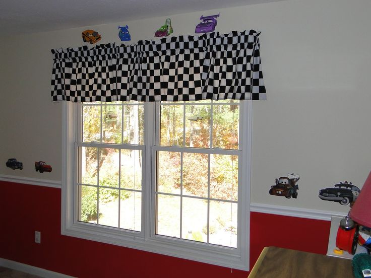 Cars Bedroom Curtain And Walls