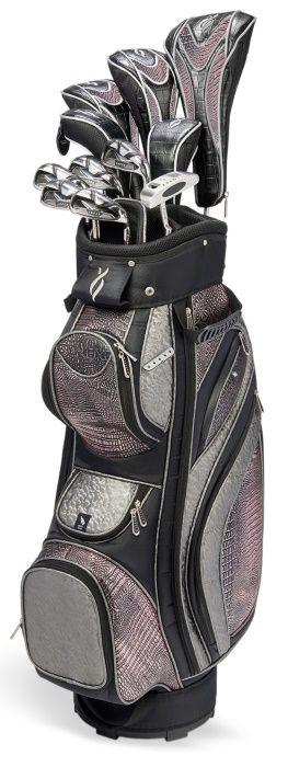 Black/Copper Nancy Lopez Zenith Golf Club Package! Find more ladies golf bag at #lorisgolfshoppe