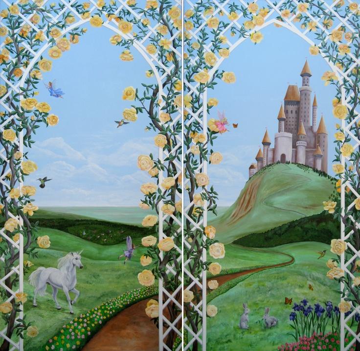 54 best kids room ideas images on pinterest child room for Fairy castle mural