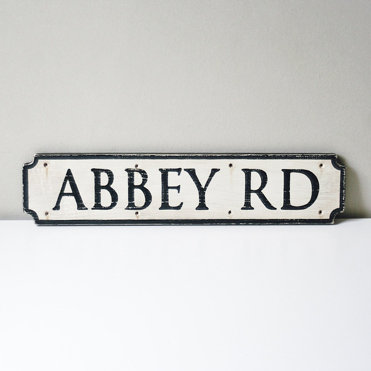 Abbey Road Sign Made To Order by UtopiaHomeAndGarden on Etsy